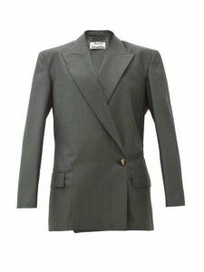 Acne Studios - Jess Single Button Wool Blend Blazer - Womens - Dark Green