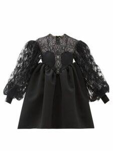 Christopher Kane - Cupcake Lace And Duchess Satin Dress - Womens - Black