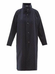 Issey Miyake - Blink Geometric Print Coat - Womens - Navy