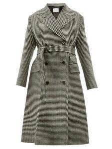 Hillier Bartley - Double Breasted Houndstooth Wool Coat - Womens - Black Multi
