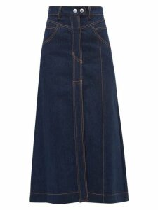 Ellery - Traffic A Line Denim Skirt - Womens - Indigo