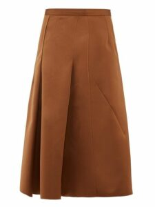 No. 21 - A Line Satin Skirt - Womens - Light Brown