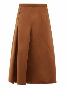 No. 21 - A-line Satin Skirt - Womens - Light Brown