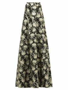 Rochas - Piastra Radsmir Vanilla Flower Brocade Gown - Womens - Black Gold