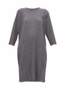 Pleats Please Issey Miyake - Tech Pleated Jersey Dress - Womens - Grey