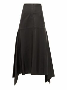 Ellery - Riccardo Panelled Leather Midi Skirt - Womens - Black