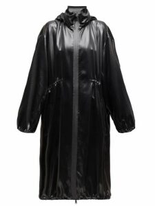 Bottega Veneta - Balloon-sleeve Hooded Leather Coat - Womens - Black