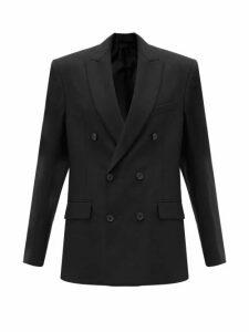 Wardrobe. nyc - Double Breasted Merino Wool Blazer - Womens - Black