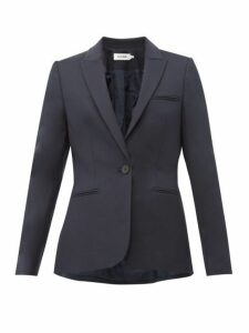 Cefinn - Single Breasted Twill Blazer - Womens - Navy