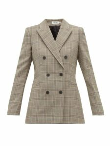 Cefinn - Double Breasted Prince Of Wales Check Blazer - Womens - Brown Multi