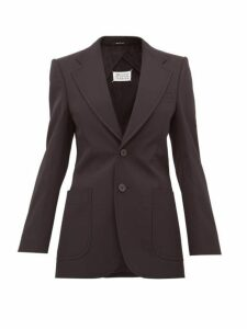 Maison Margiela - Single Breasted Wool Blend Blazer - Womens - Black