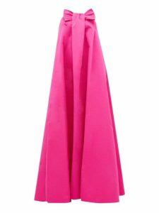 Rochas - Piastra Radsmir Bow Front Taffeta Gown - Womens - Fuchsia