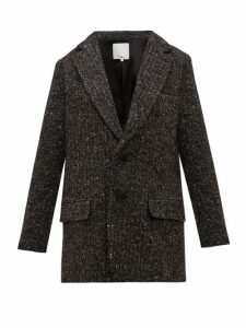 Tibi - Single Breasted Tweed Blazer - Womens - Dark Grey