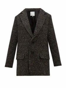 Tibi - Single-breasted Tweed Blazer - Womens - Dark Grey