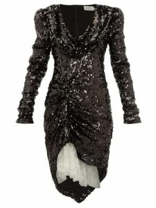 Preen By Thornton Bregazzi - Karin Cowl-neck Sequinned Dress - Womens - Black