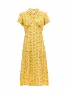 Hvn - Morgan Love Notes Silk Dress - Womens - Yellow
