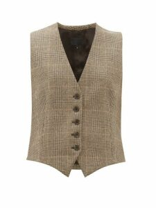 Nili Lotan - Angelina Wool Blend Waistcoat - Womens - Brown Multi