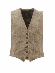 Nili Lotan - Angelina Wool Blend Waistcoat - Womens - Brown Multi
