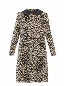 Batsheva - Leopard Print Cotton Velvet Swing Coat - Womens - Leopard