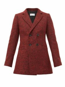 Redvalentino - Double Breasted Herringbone Twill Blazer - Womens - Red