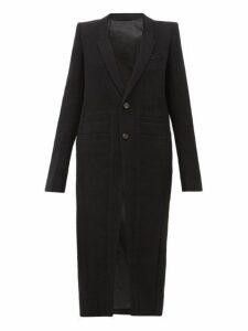 Rick Owens - Neue Single Breasted Wool Coat - Womens - Black