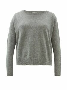 Allude - Boat Neck Cashmere Sweater - Womens - Grey
