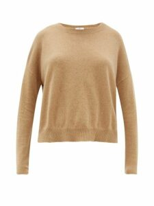 Allude - Boat Neck Cashmere Sweater - Womens - Camel