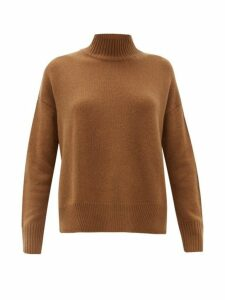 Allude - High Neck Cashmere Sweater - Womens - Camel