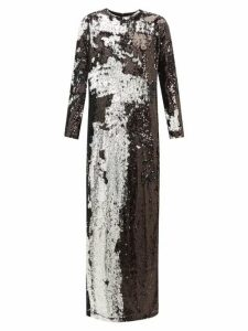 Marques'almeida - Two Way Sequinned Occasion Dress - Womens - Silver