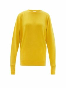 Raey - Raglan Sleeve Boyfriend Cashmere Sweater - Womens - Yellow