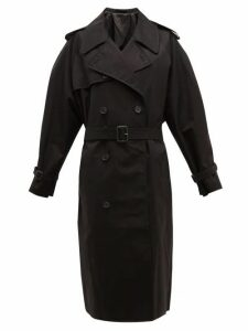 Wardrobe. nyc - Double Breasted Gabardine Trench Coat - Womens - Black