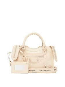 Balenciaga - Classic City Mini Leather Shoulder Bag - Womens - Beige