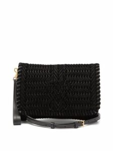 Anya Hindmarch - The Neeson Small Ribbon Velvet Cross Body Bag - Womens - Black