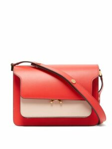 Marni - Trunk Medium Leather Shoulder Bag - Womens - Red Multi