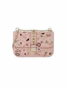 Glam Lock Rockstud Leather Shoulder Bag