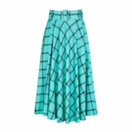 Alice + Olivia Parcell Checked Midi Skirt