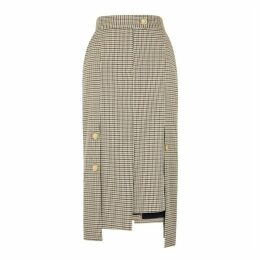 Eudon Choi Elsa Checked Wool-blend Midi Skirt