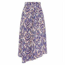 Isabel Marant Étoile Yeba Blue Printed Midi Skirt