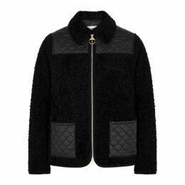 BARBOUR X ALEXA CHUNG Hazel Black Faux Shearling Jacket