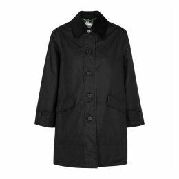 BARBOUR X ALEXA CHUNG Maisie Black Waxed Cotton Jacket