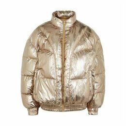 Isabel Marant Étoile Kristen Bronze Quilted Shell Jacket