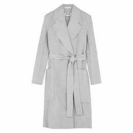 Acne Studios Grey Belted Wool Coat