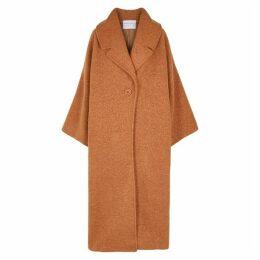Mariam Al Sibai Brown Oversized Bouclé Wool-blend Coat