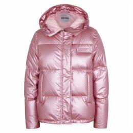 Kenzo Metallic Pink Quilted Shell Jacket