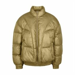 Isabel Marant Étoile Kristen Olive Quilted Shell Jacket