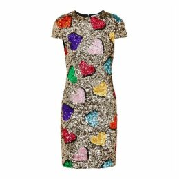 Alice + Olivia Nat Sequin Mini Dress