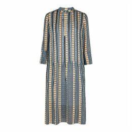 Samsøe & Samsøe Elm Checked Chiffon Shirt Dress