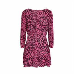 RIXO Kyla Leopard-print Silk Mini Dress