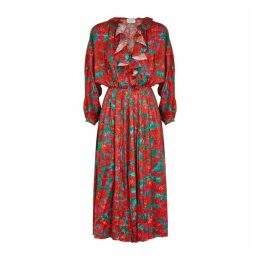 Magda Butrym Ancona Floral-print Silk Jacquard Dress