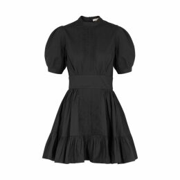 ByTiMo Anthracite Puff-sleeve Cotton Mini Dress
